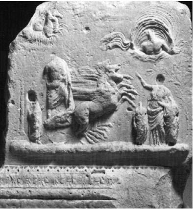 Figure 1: apotheosis of Caesar, Belvedere Altar, Rome, 12-2 BCE.